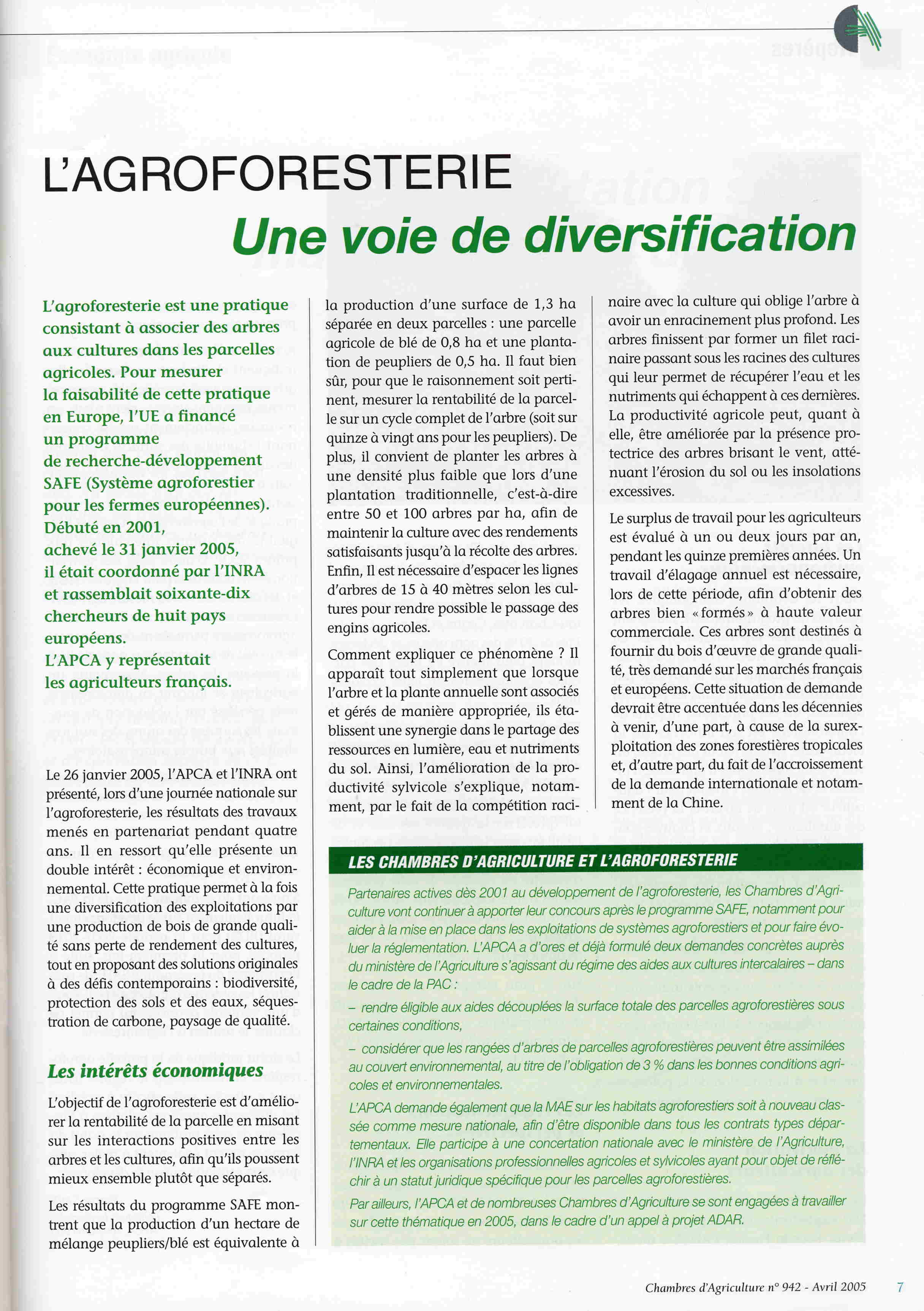 Agroforestry Extension papers