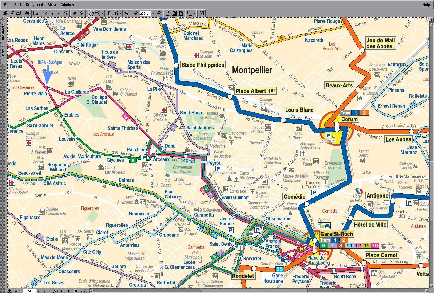 plan du cul Montpellier